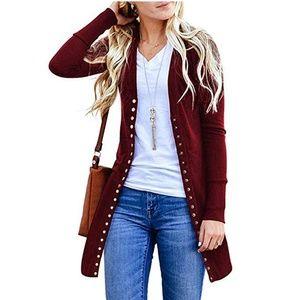 New! Women's Studded Knit Cardigan Size Size S-XL